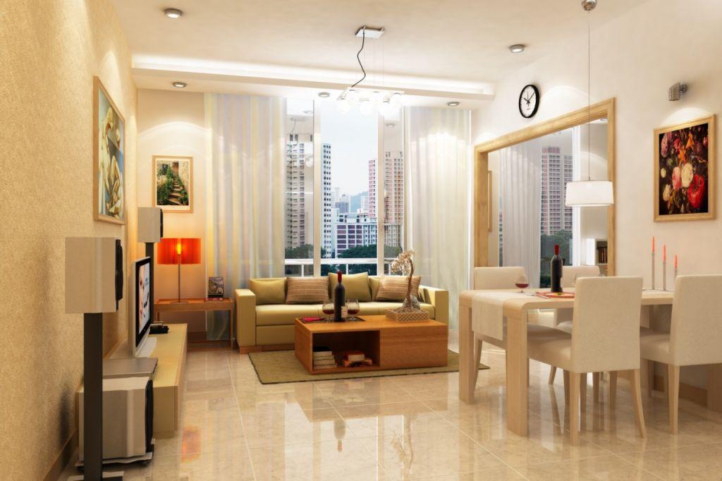 phòng khách chung cư bid residence
