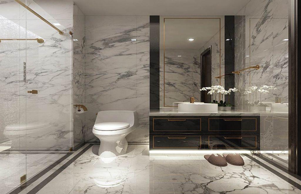 phòng tắm chung cư sunshine boulevard