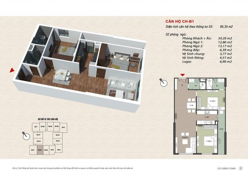 thiết kế căn hộ chung cư viễn đông star