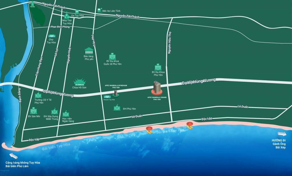vị trí dự án apec mandala grand phú yên