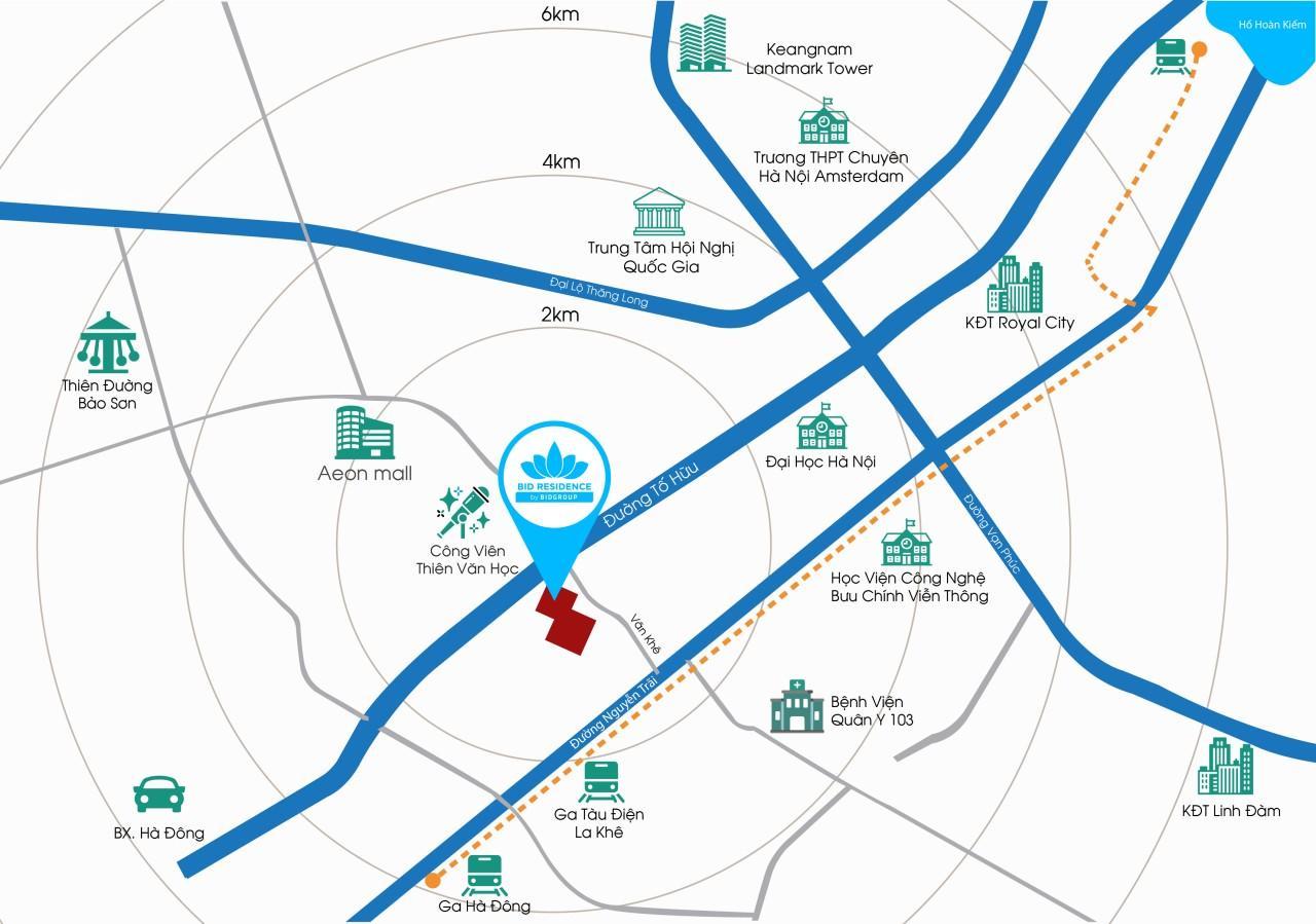 vị trí dự án chung cư bid residence
