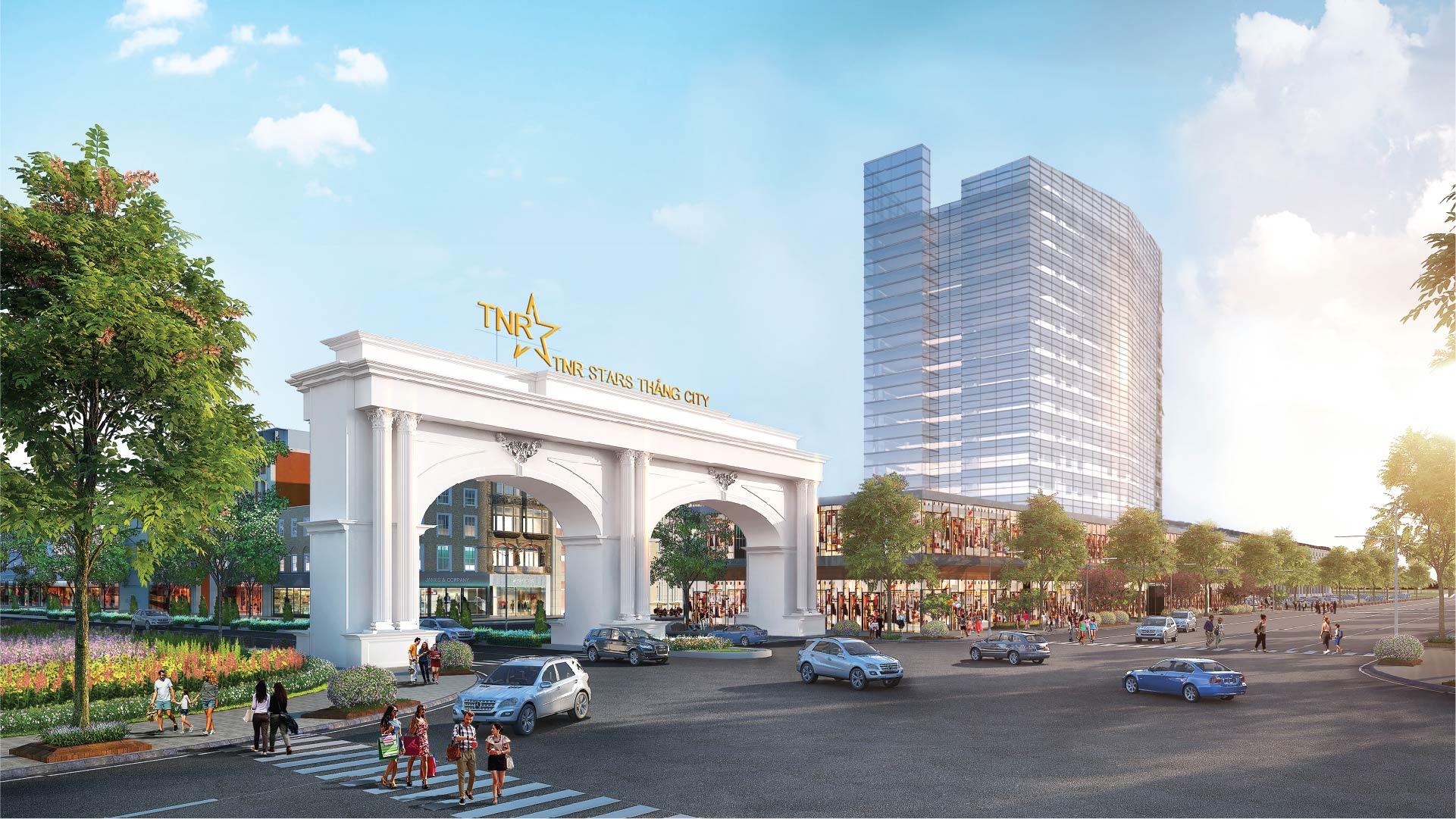 cổng chào dự án tnr stars thắng city