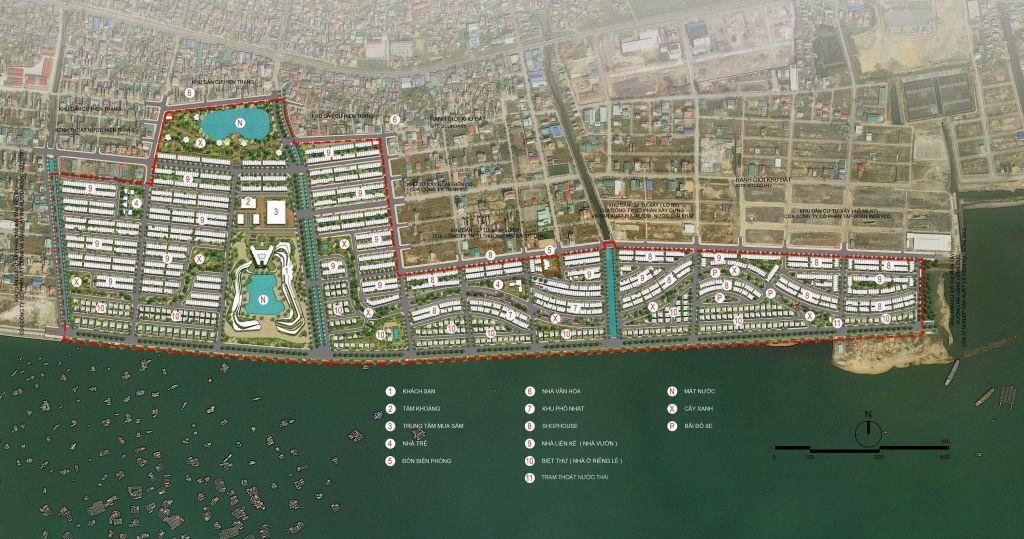 mặt bằng tổng thể dự án green dragon city cẩm phả