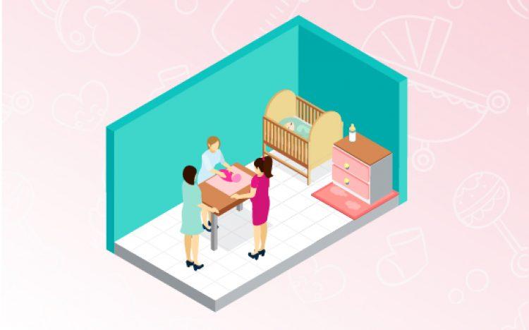 phòng chăm trẻ