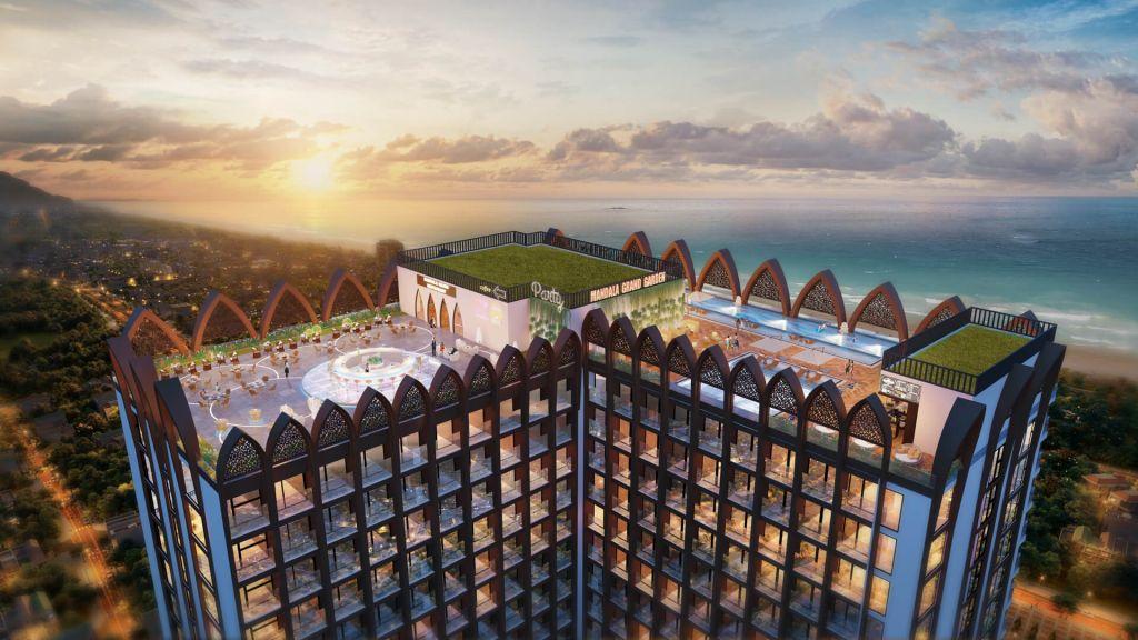tầng mái dự án apec mandala grand phú yên