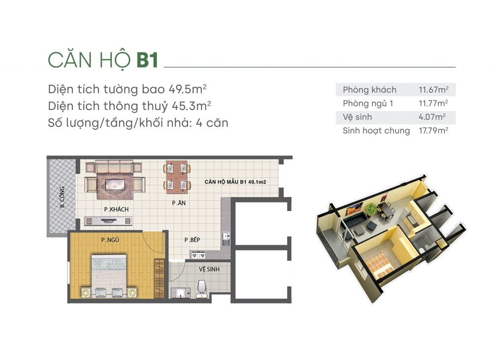 thiết kế căn hộ green homes