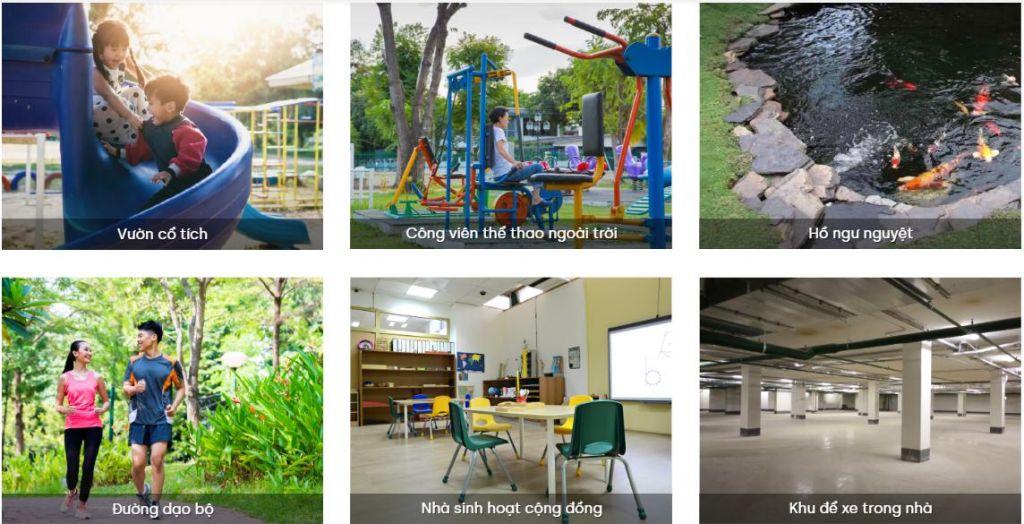 tiện ích dự án green homes đình bảng