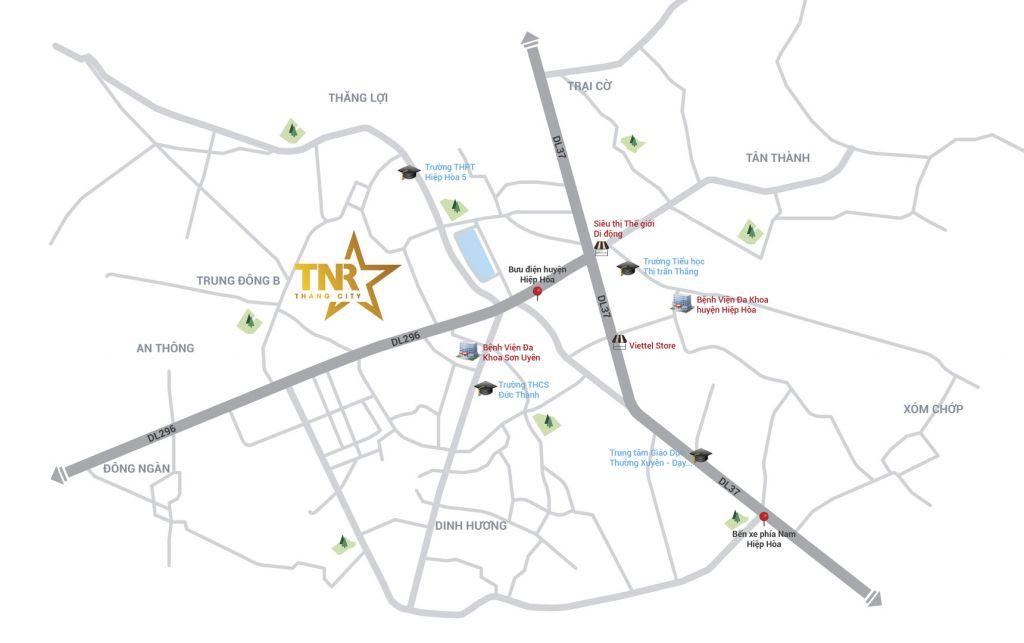 vị trí dự án tnr stars thắng city