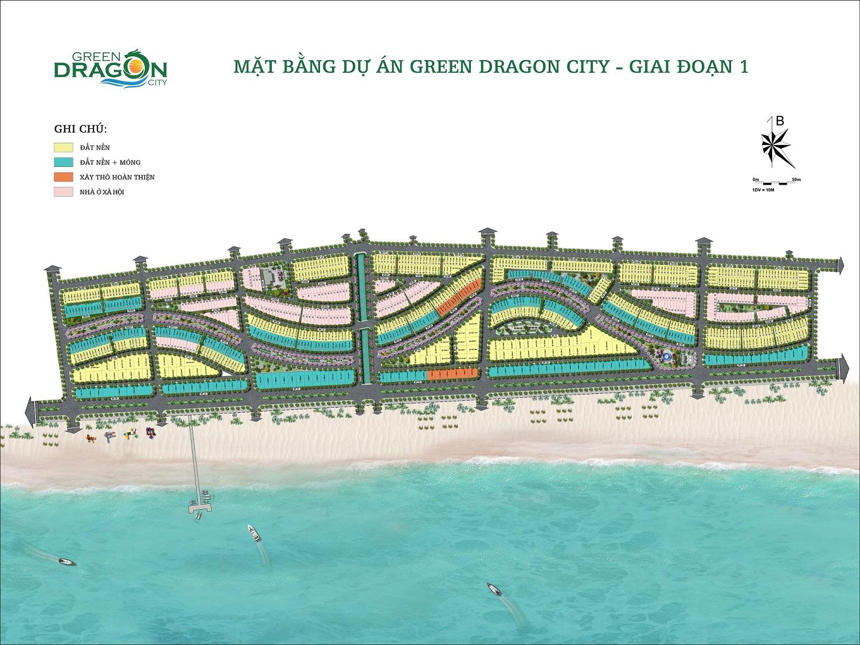 mặt bằng dự án green dragon city cẩm phả