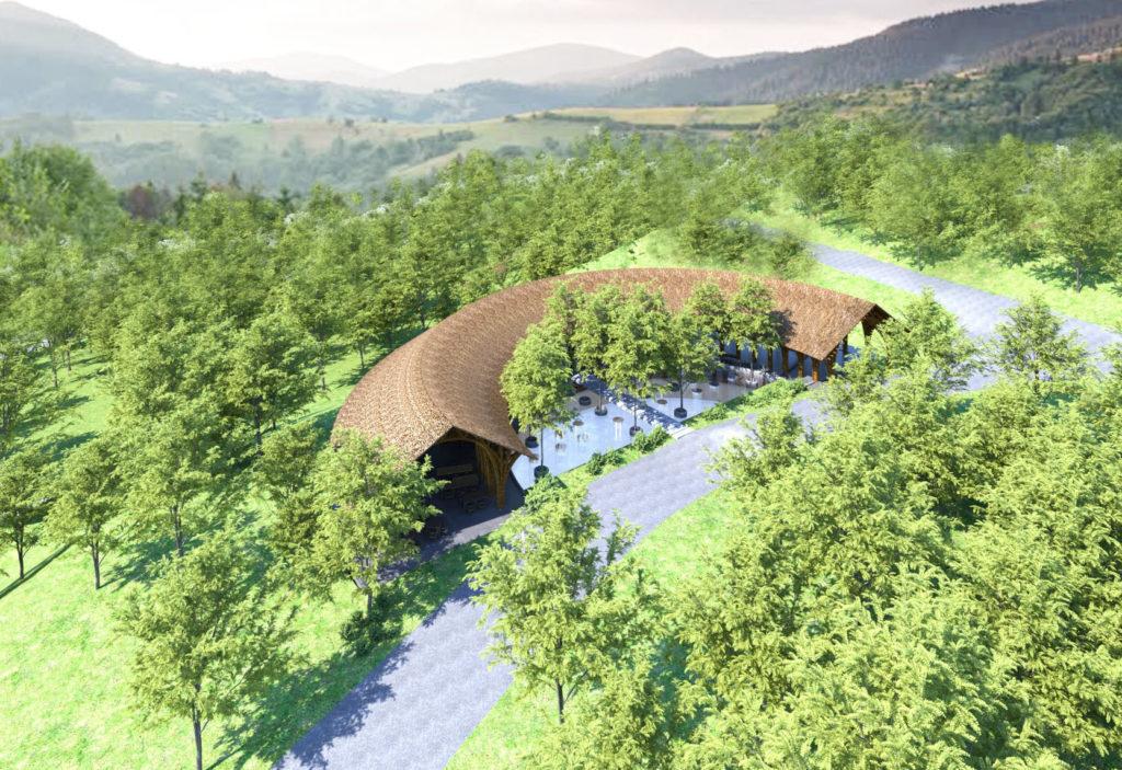nhà tre dự án sakana resort hòa bình
