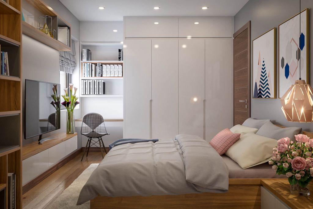 phòng ngủ chung cư phú thịnh green park