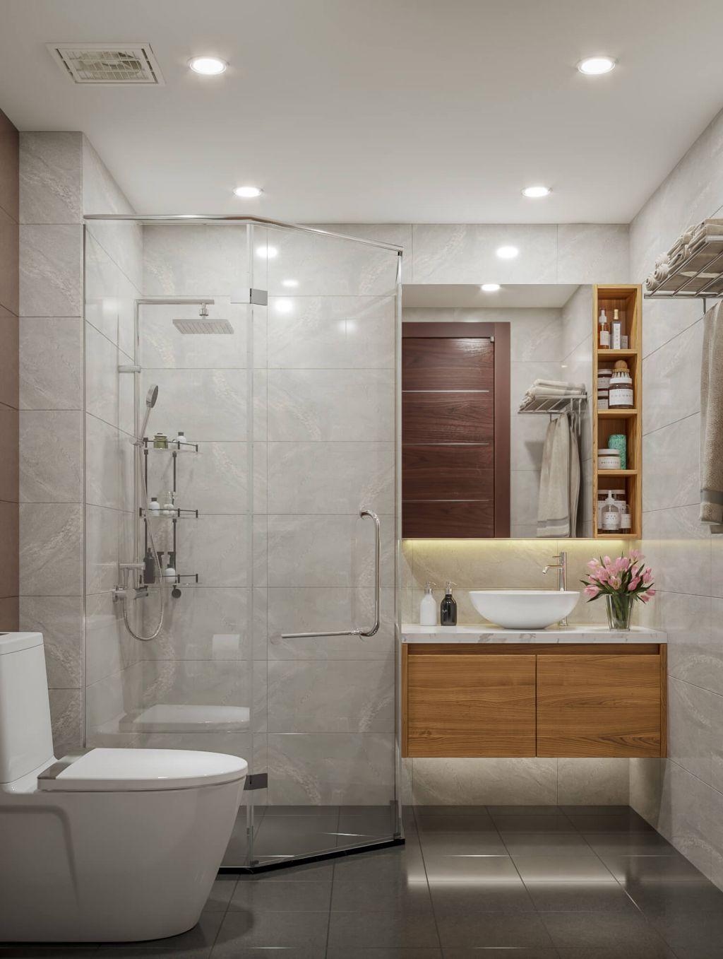 phòng tắm chung cư phú thịnh green park