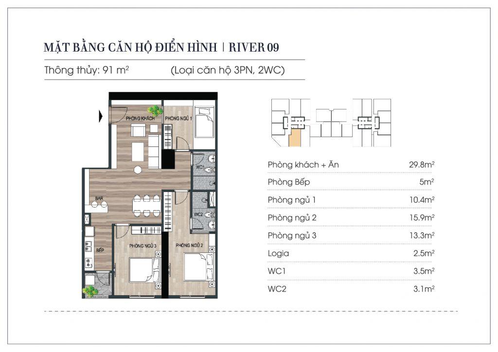 thiết kế chung cư euro river tower
