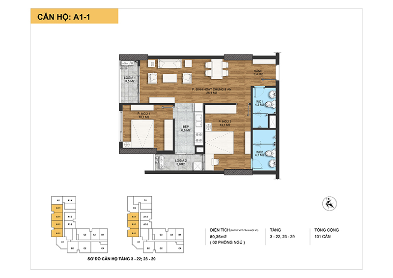 thiết kế chi tiết căn hộ