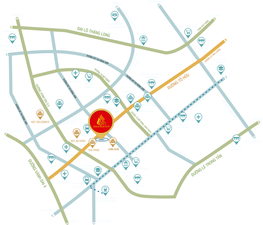 vị trí dự án goldsilk city