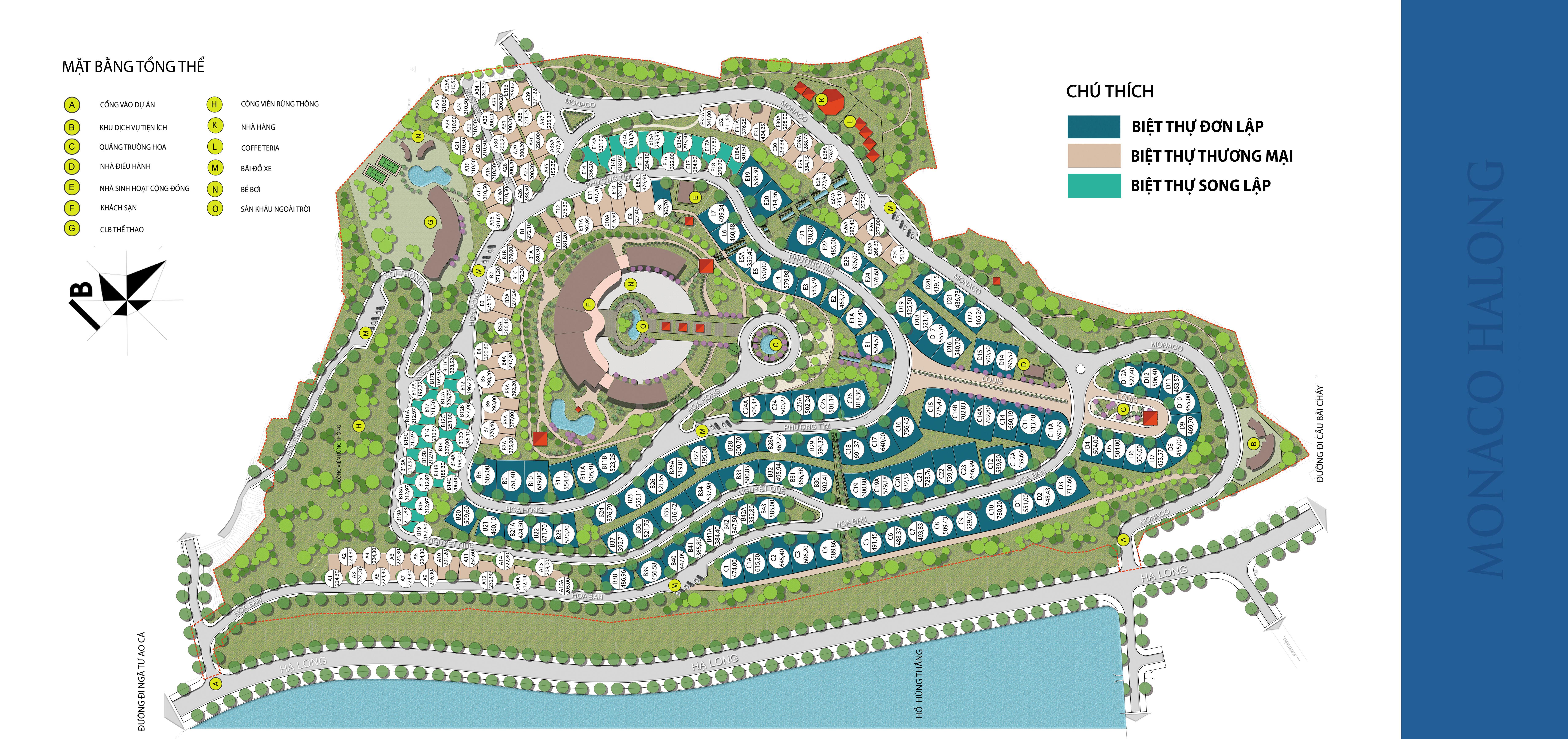 mặt bằng dự án green pine villas hạ long
