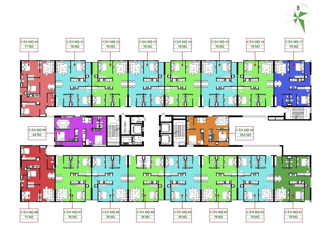 mặt bằng dự án iec residences thanh trì