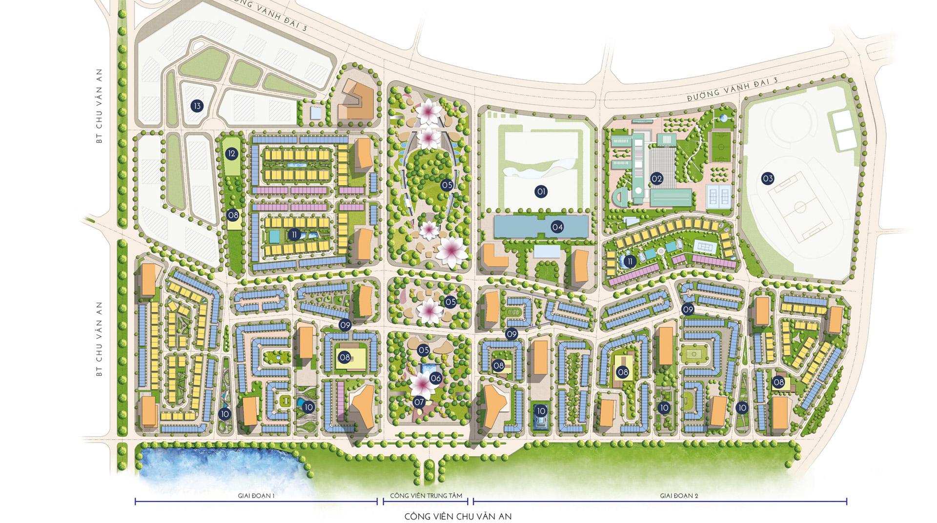 mặt bằng tiện ích dự án the manor central park