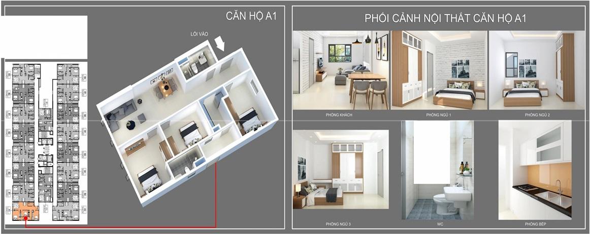 thiết kế căn hộ a1