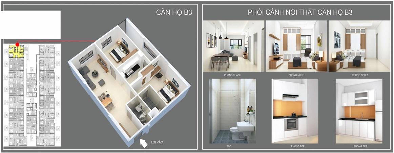 thiết kế căn hộ b3
