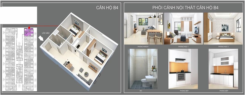 thiết kế căn hộ b4