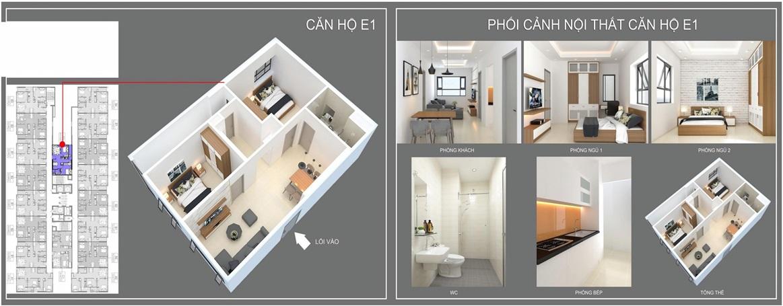 thiết kế căn hộ e1