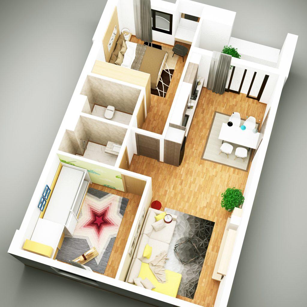 thiết kế nhà ở xã hội hoa sơn