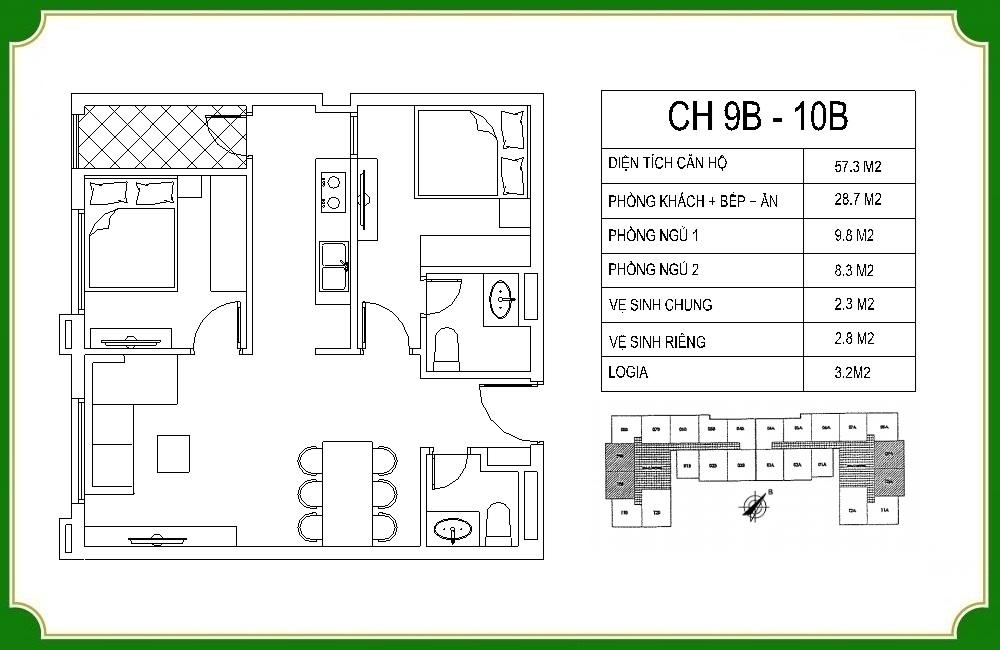 thiết kế căn hộ phương canh residence 11