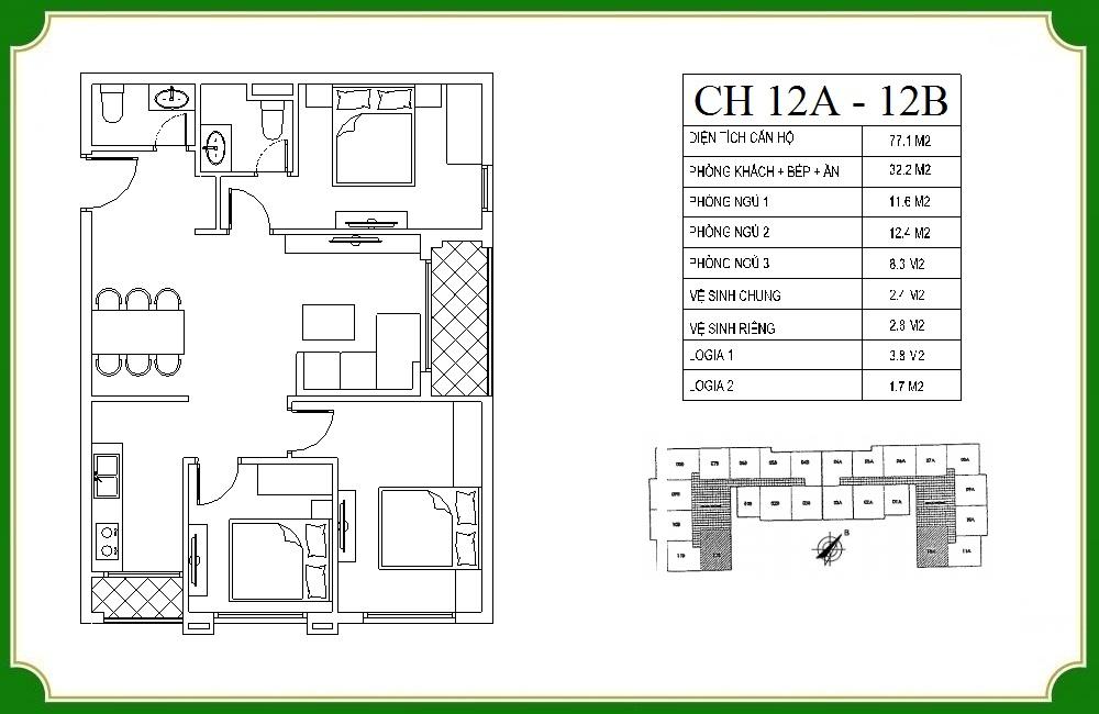 thiết kế căn hộ phương canh residence 12