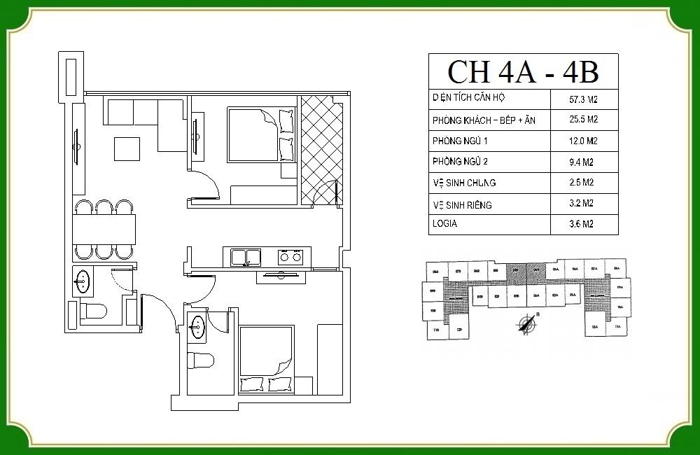 thiết kế căn hộ phương canh residence 4