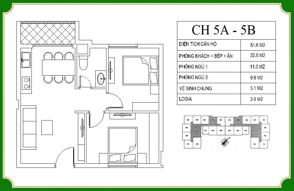 thiết kế căn hộ phương canh residence 5