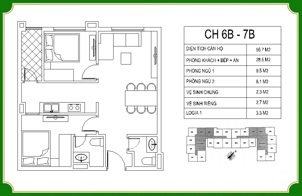 thiết kế căn hộ phương canh residence 7