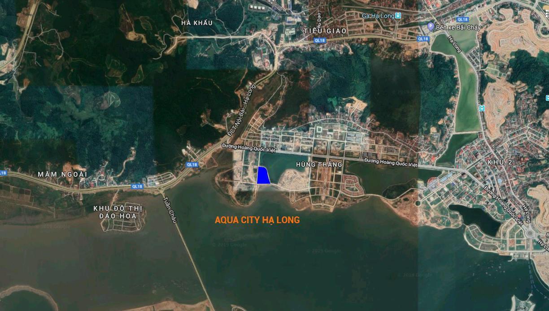 vị trí dự án aqua city hạ long