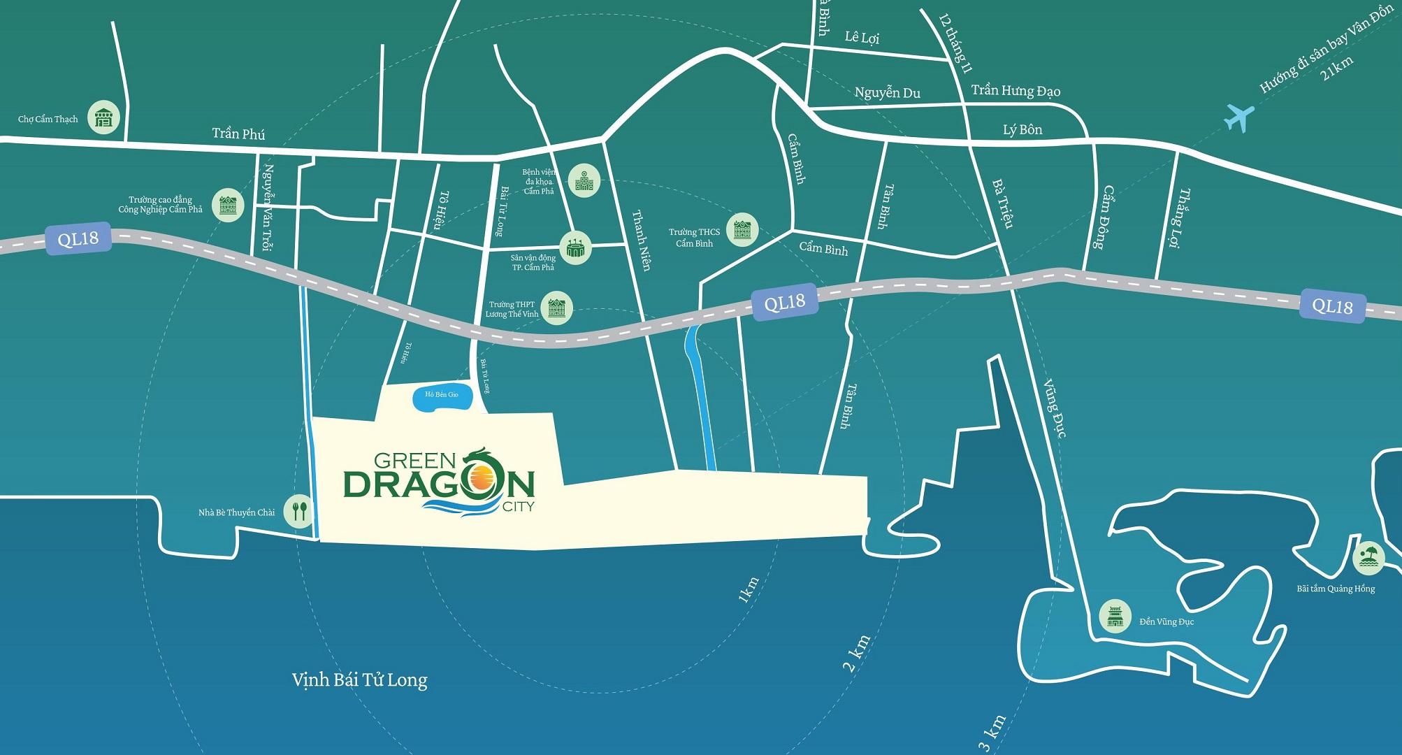 vị trí dự án green dragon city