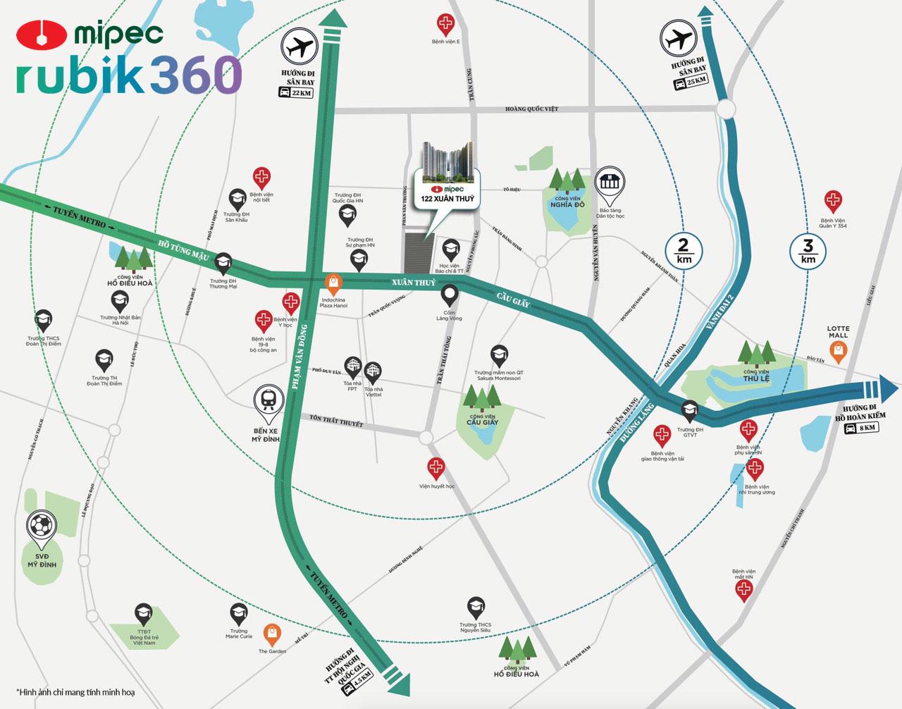 vị trí dự án mipec rubik 360
