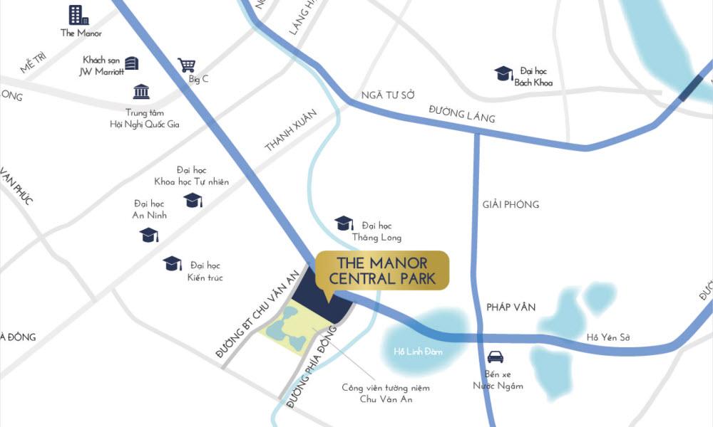 vị trí dự án the manor central park