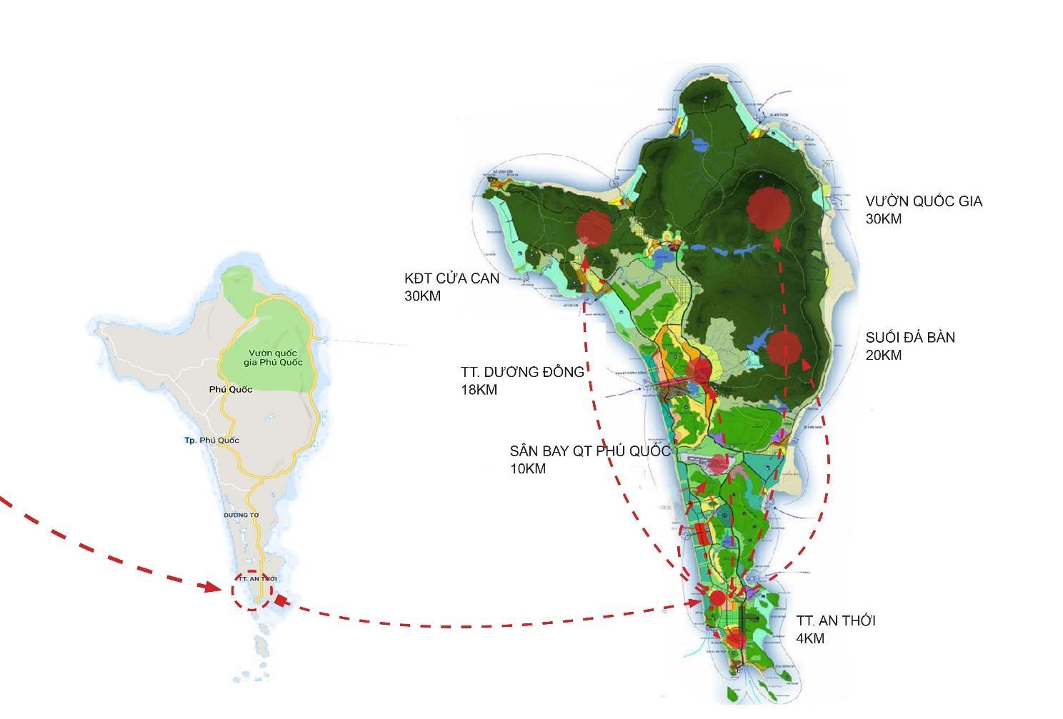 liên kết vùng dự án meyhomes phú quốc