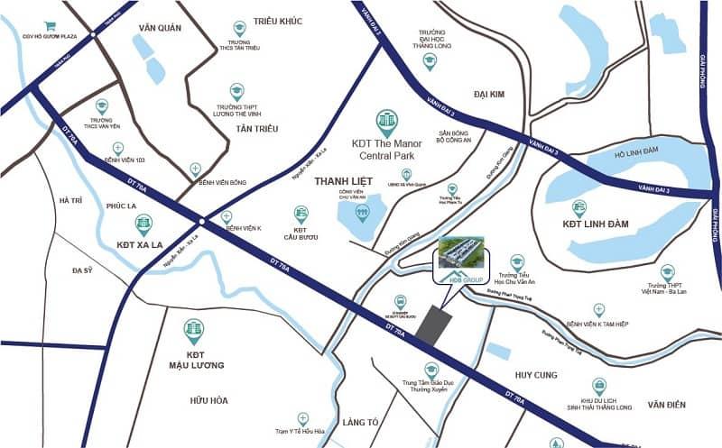 vị trí dự án s - downtown thanh trì