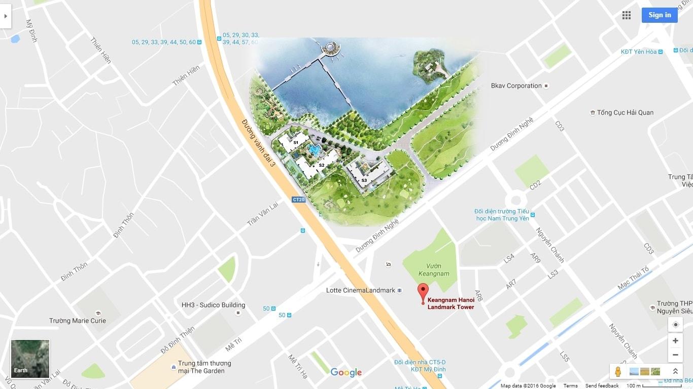 vị trí dự án vinhomes sky lake