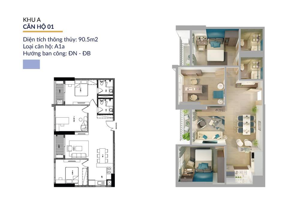 thiết kế căn hộ athena complex pháp vân