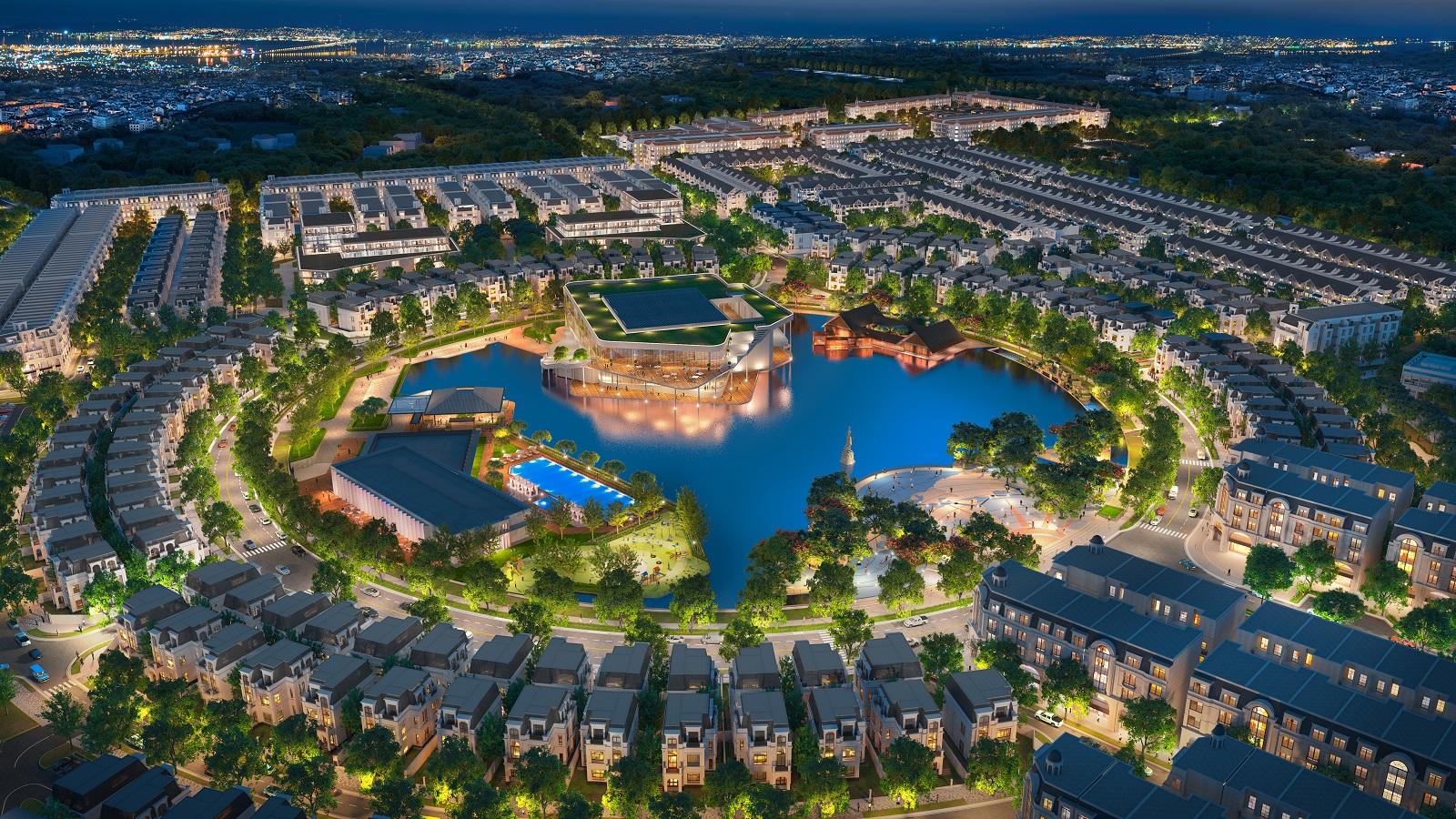 công viên hồ cảnh quan dự án hinode royal park