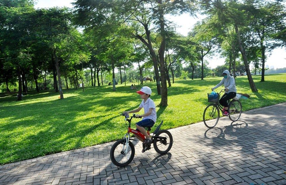 công viên yên sở hoàng mai