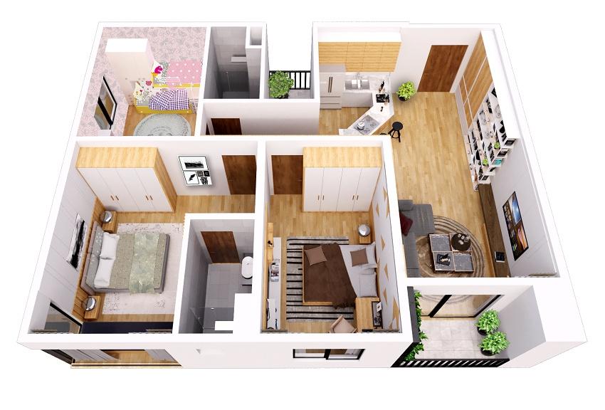 thiết kế căn hộ the dandelion residence