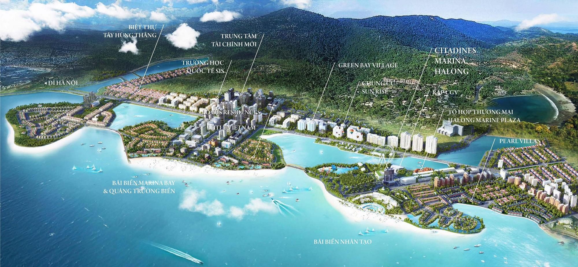 vị trí dự án citadines marina hạ long