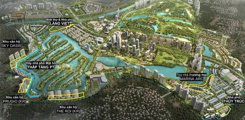 vị trí dự án nhà phố thủy trúc residences