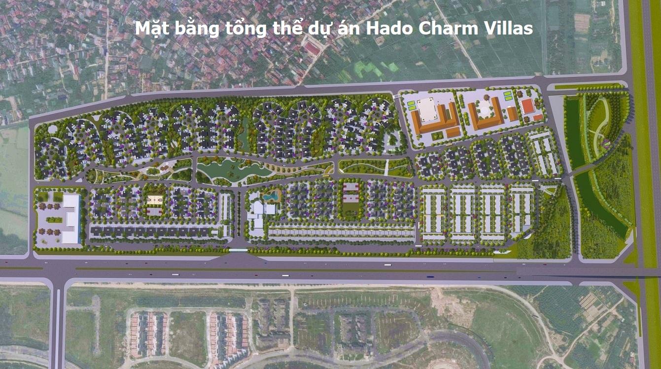 mặt bằng tổng thể dự án hà đô charm villas
