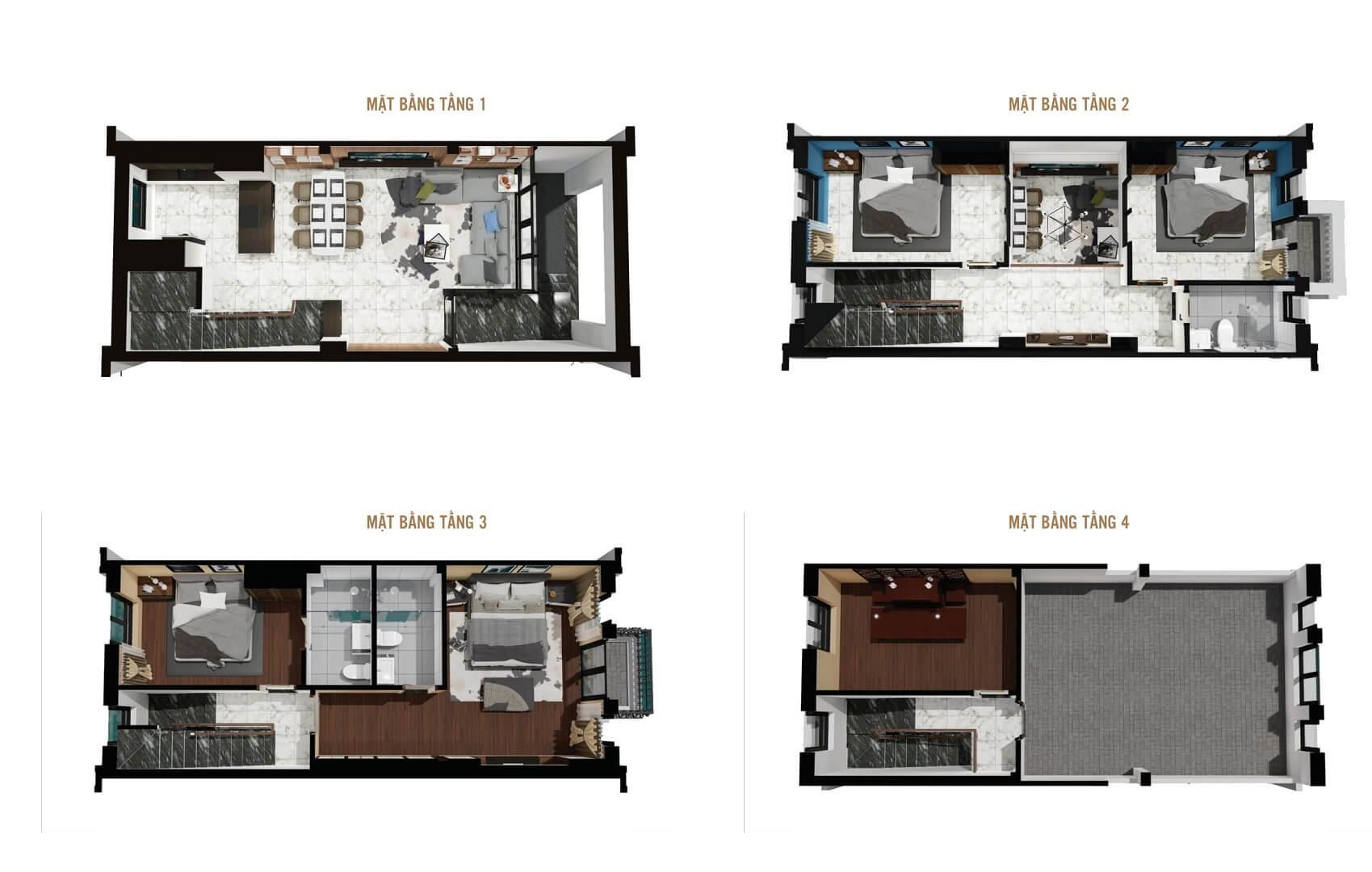 thiết kế liền kề biệt thự 12