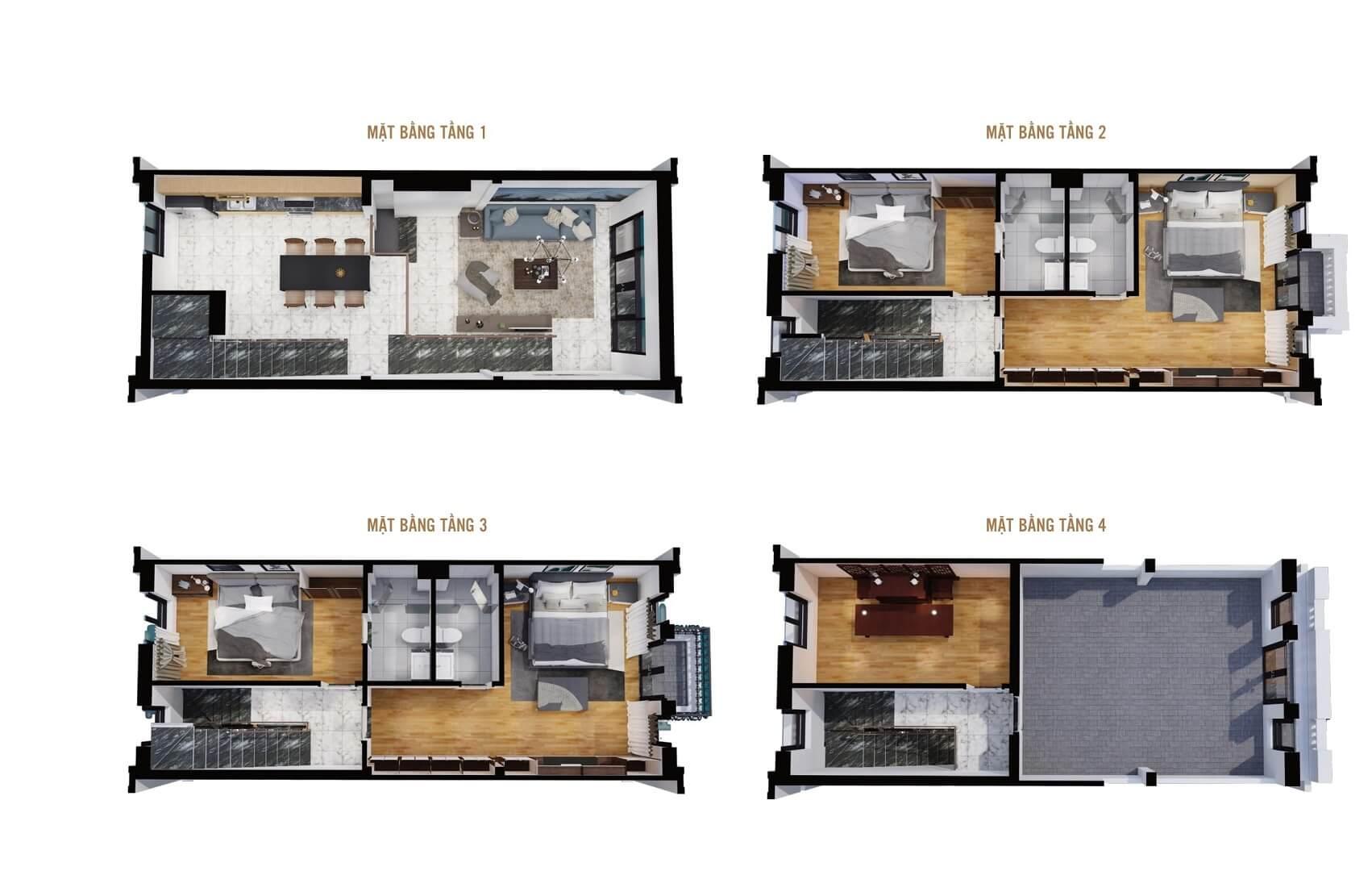 thiết kế liền kề biệt thự 14