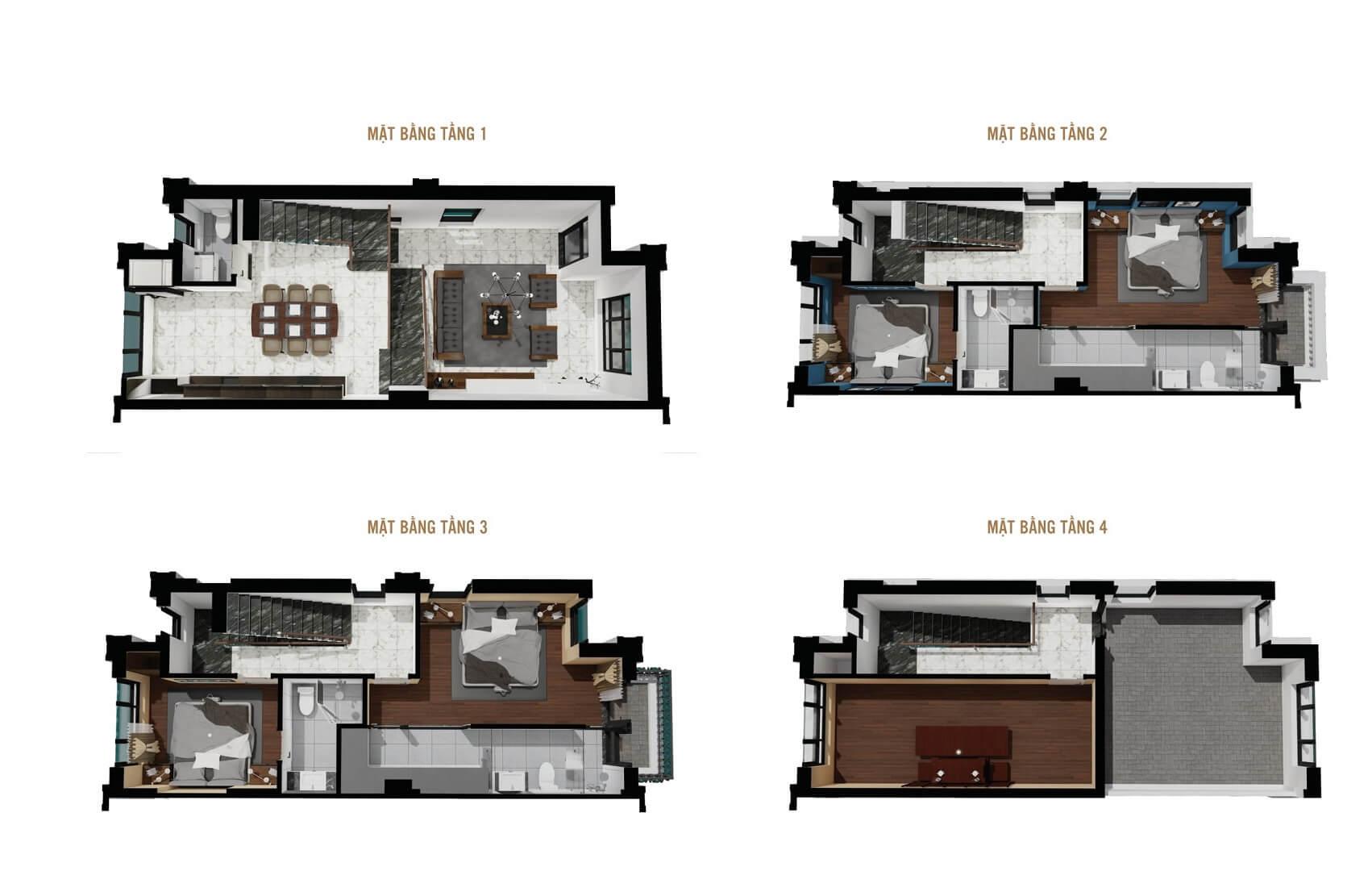 thiết kế liền kề biệt thự 16