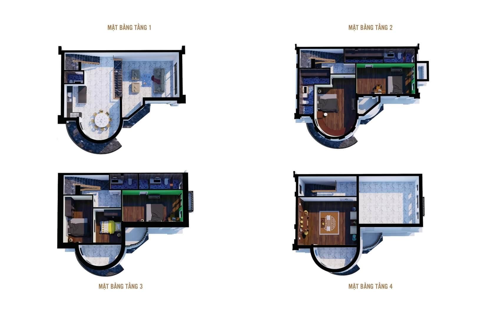 thiết kế liền kề biệt thự 6